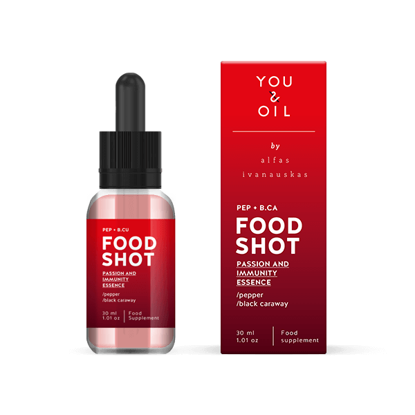 You & Oil FOOD SHOT Imunita - s pepřem a černuchou setou (30 ml)