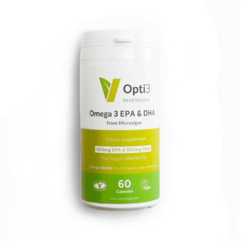 Vegetology Opti3 Omega - EPA a DHA s vitaminem D3 (60 tablet)
