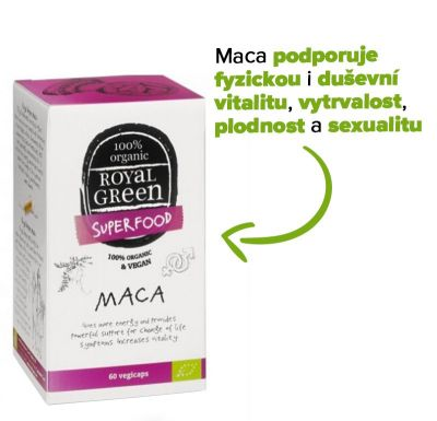 Royal Green Maca BIO (60 kapslí)
