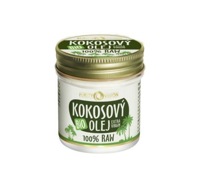 Purity Vision Kokosový olej RAW BIO (120 ml)
