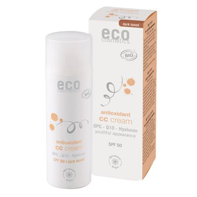 Eco Cosmetics CC krém SPF 30 BIO - dark (50 ml)
